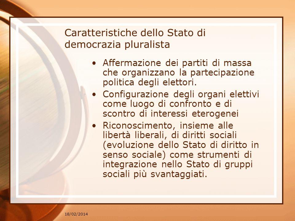 Caratteristiche dello Stato di democrazia pluralista
