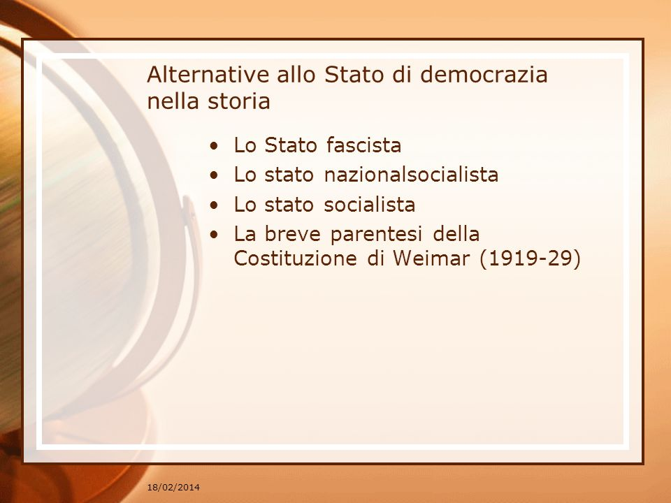 Alternative allo Stato di democrazia nella storia
