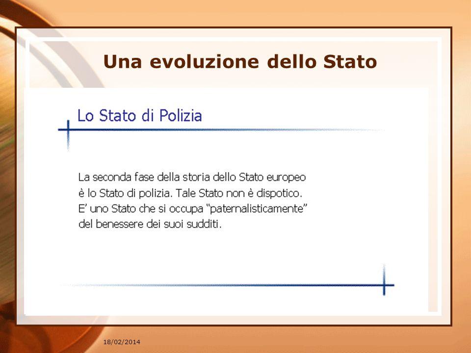 Una evoluzione dello Stato