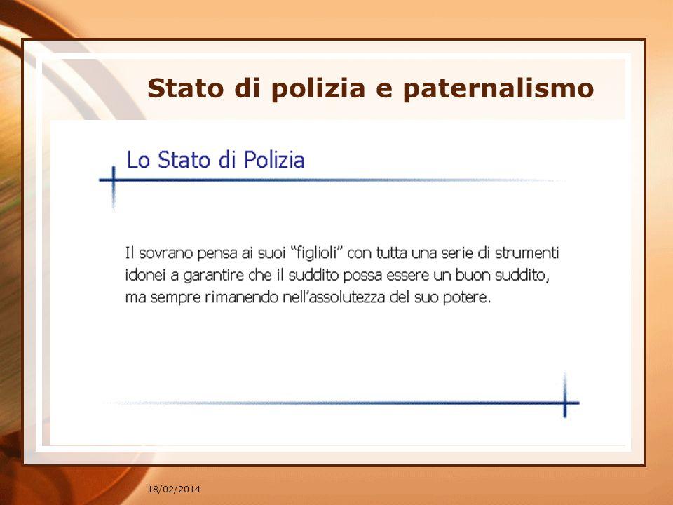 Stato di polizia e paternalismo