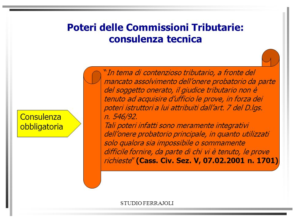 Poteri delle Commissioni Tributarie: