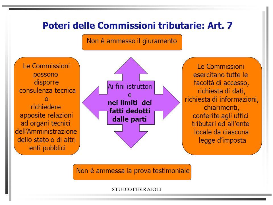 Poteri delle Commissioni tributarie: Art. 7