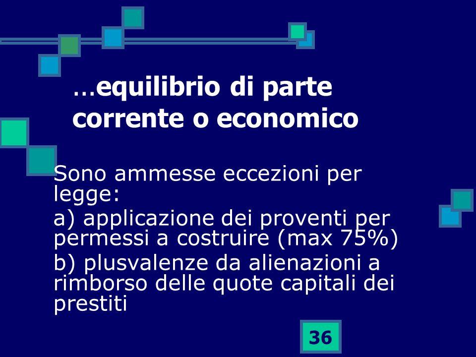 ...equilibrio di parte corrente o economico