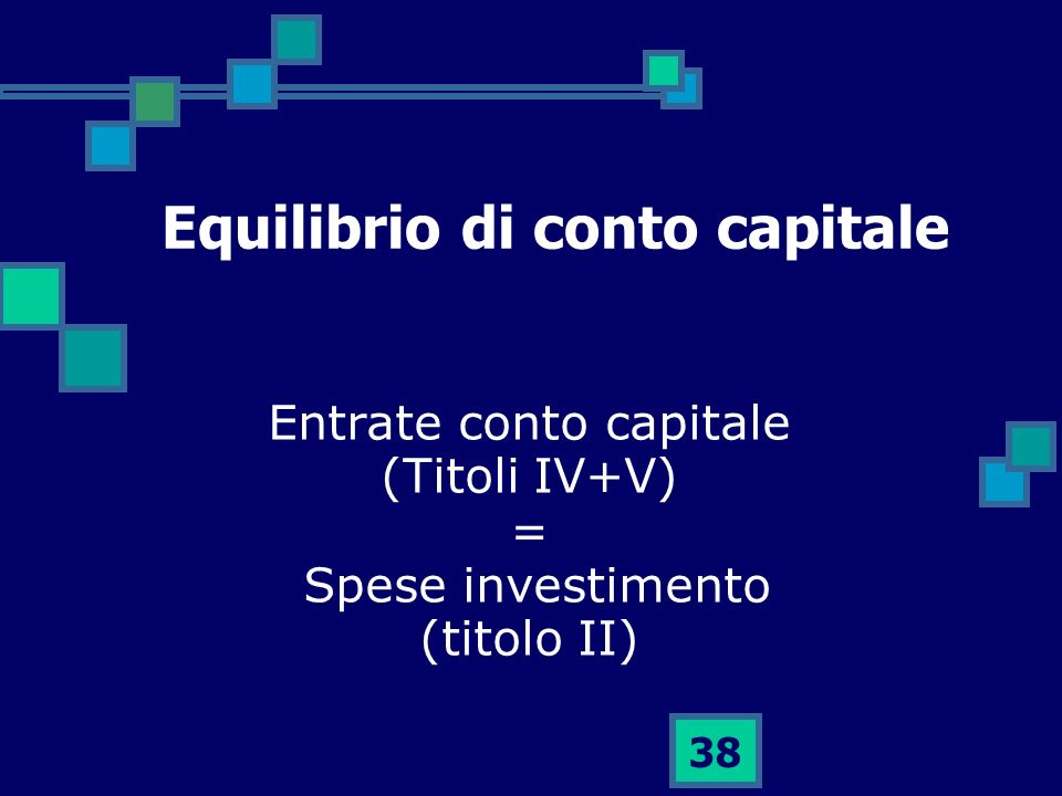 Equilibrio di conto capitale