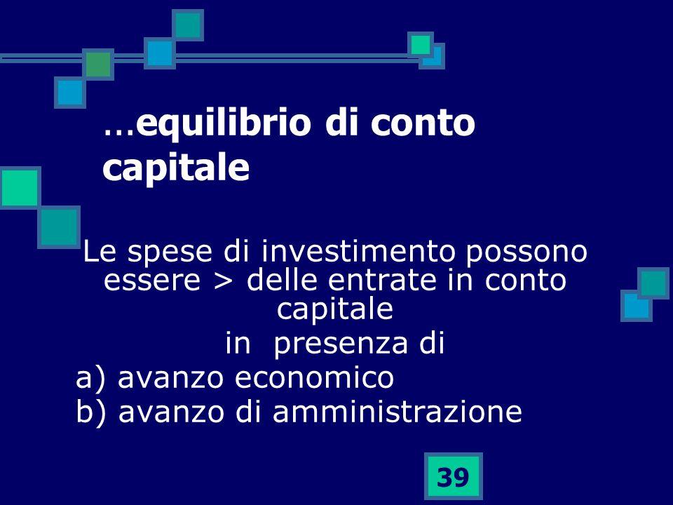 ...equilibrio di conto capitale
