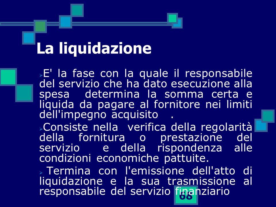 La liquidazione
