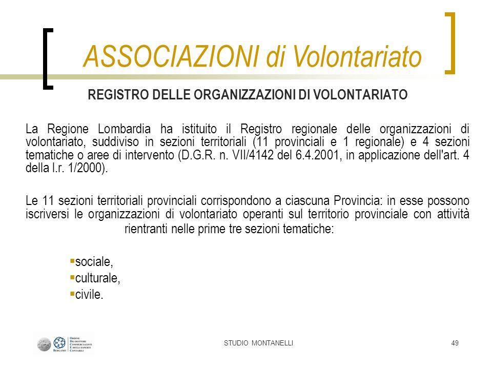 REGISTRO DELLE ORGANIZZAZIONI DI VOLONTARIATO