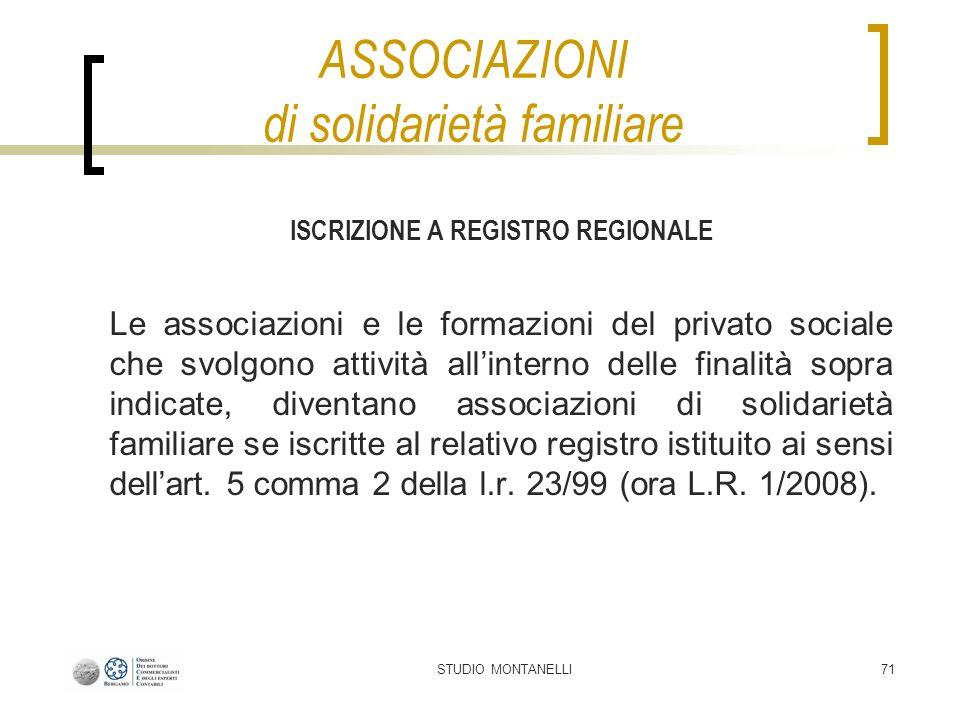 ASSOCIAZIONI di solidarietà familiare