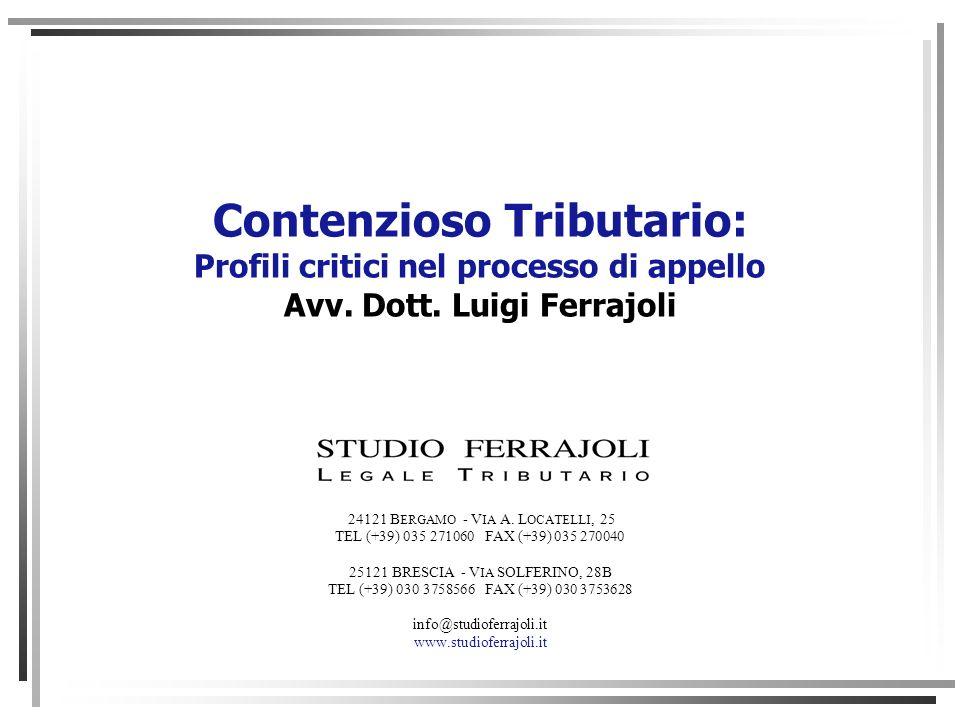Contenzioso Tributario: