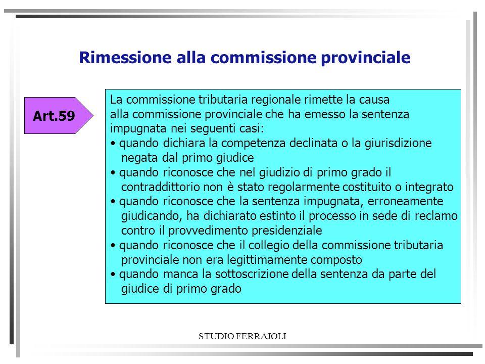 Rimessione alla commissione provinciale
