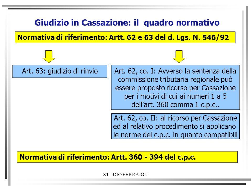 Giudizio in Cassazione: il quadro normativo