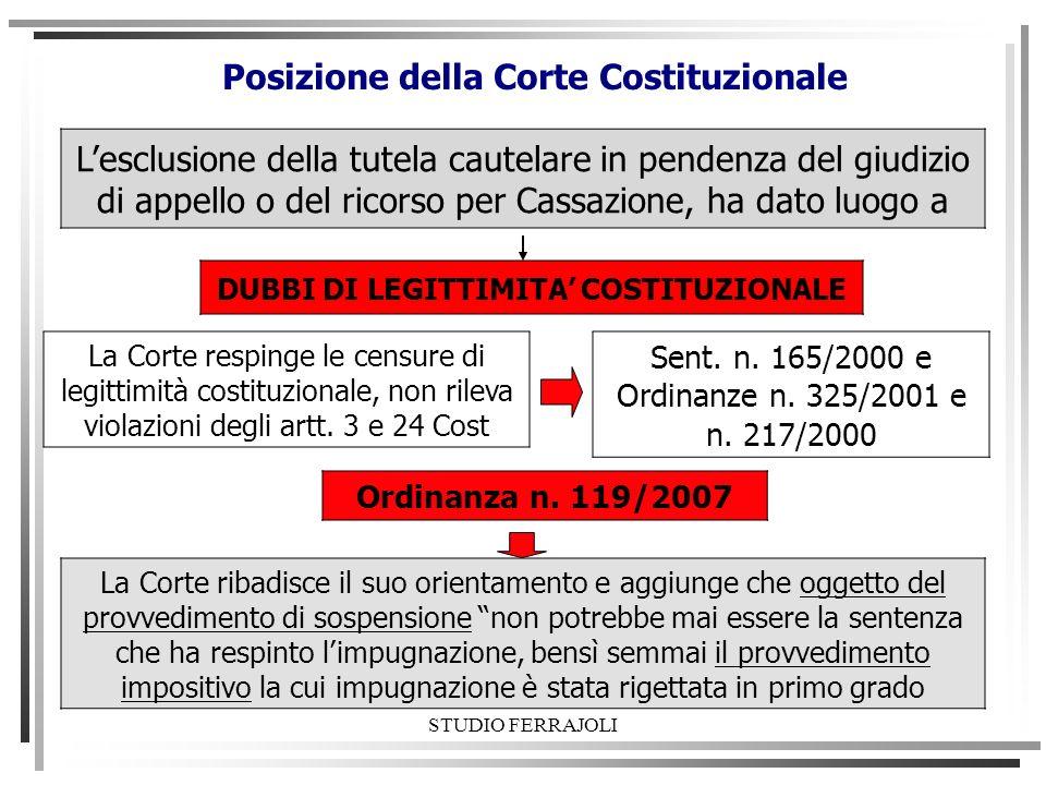Posizione della Corte Costituzionale