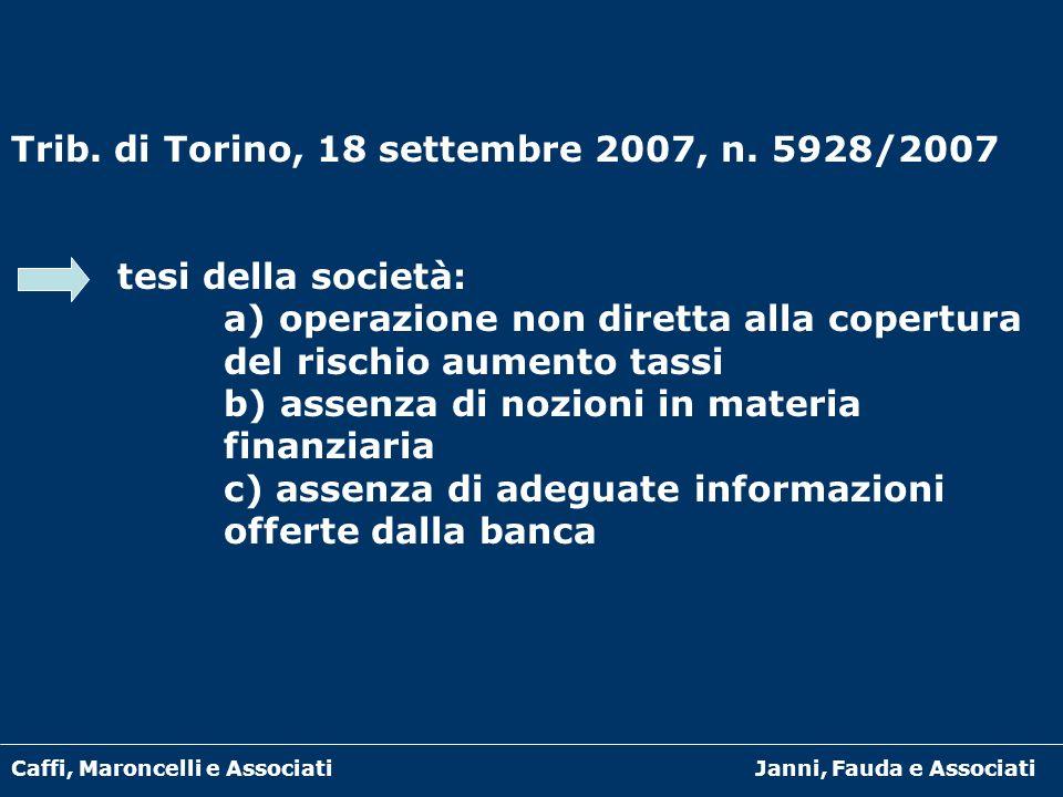 Trib. di Torino, 18 settembre 2007, n. 5928/2007