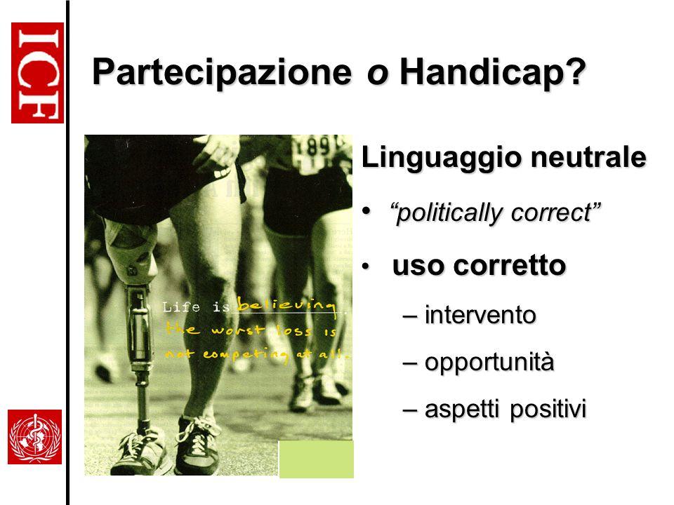 Partecipazione o Handicap