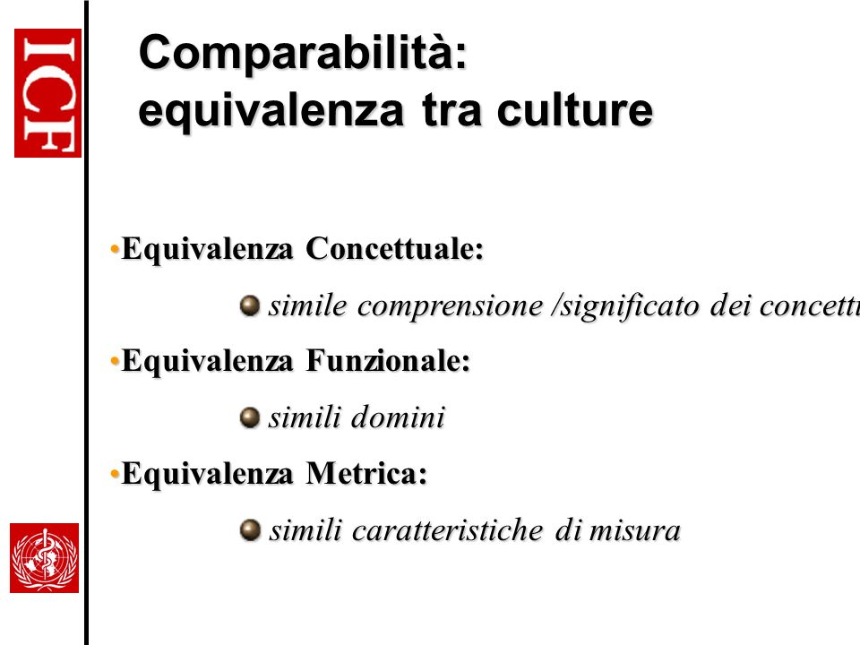 Comparabilità: equivalenza tra culture