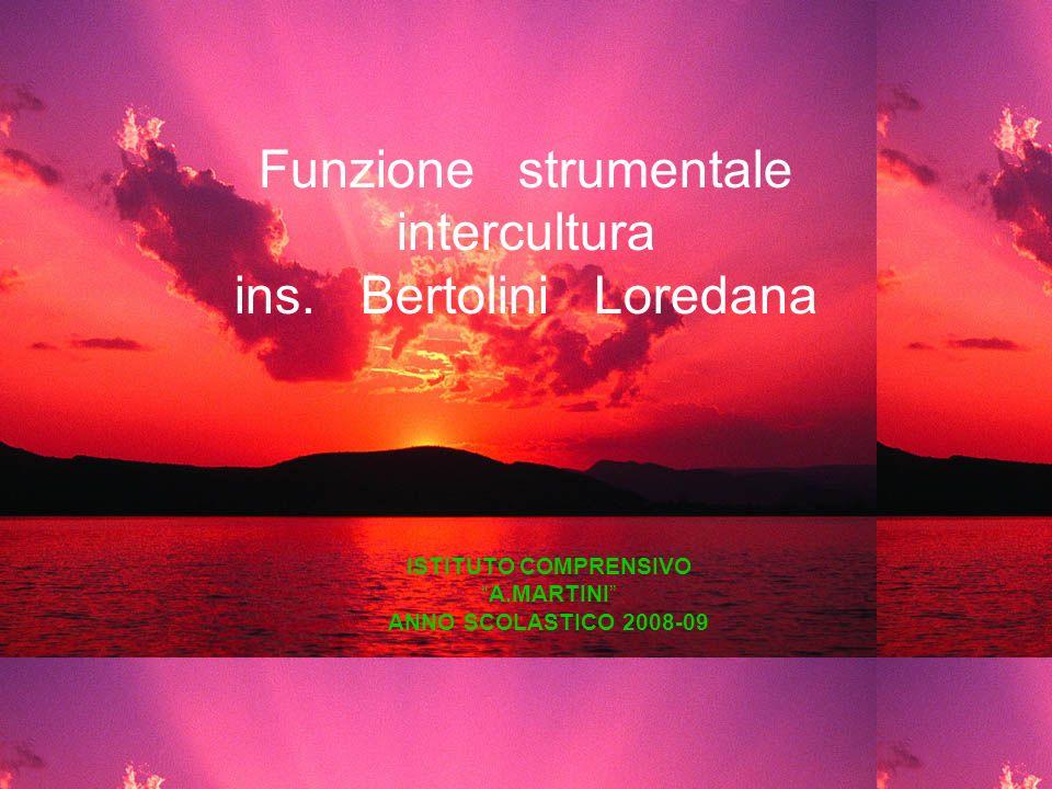 Funzione strumentale intercultura ins. Bertolini Loredana