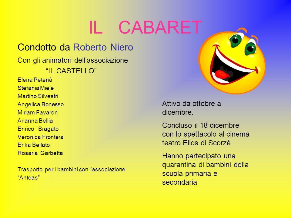 IL CABARET Condotto da Roberto Niero
