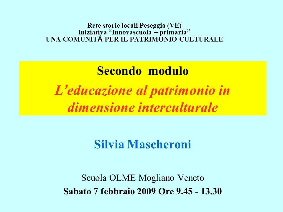 L'educazione al patrimonio in dimensione interculturale