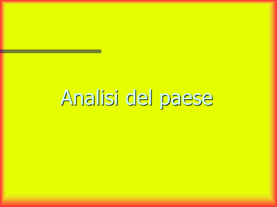 Analisi del paese