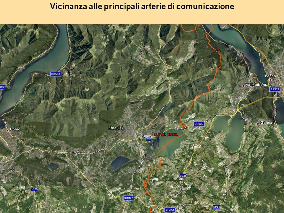 Vicinanza alle principali arterie di comunicazione