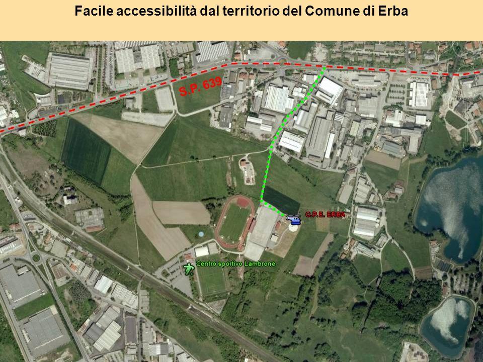 Facile accessibilità dal territorio del Comune di Erba