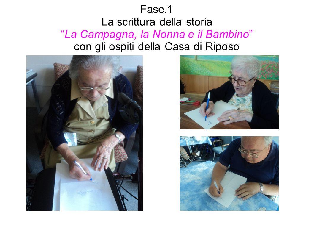 Fase.1 La scrittura della storia La Campagna, la Nonna e il Bambino con gli ospiti della Casa di Riposo