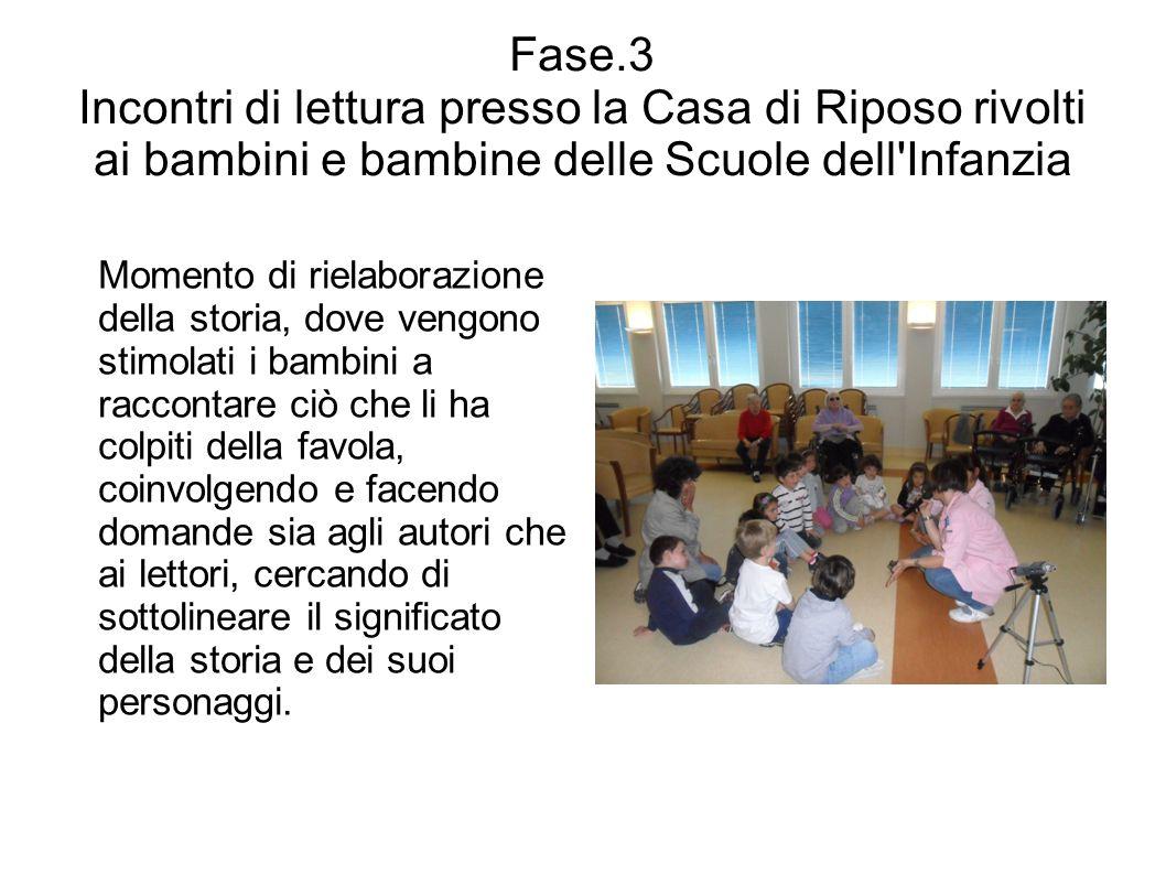 Fase.3 Incontri di lettura presso la Casa di Riposo rivolti ai bambini e bambine delle Scuole dell Infanzia