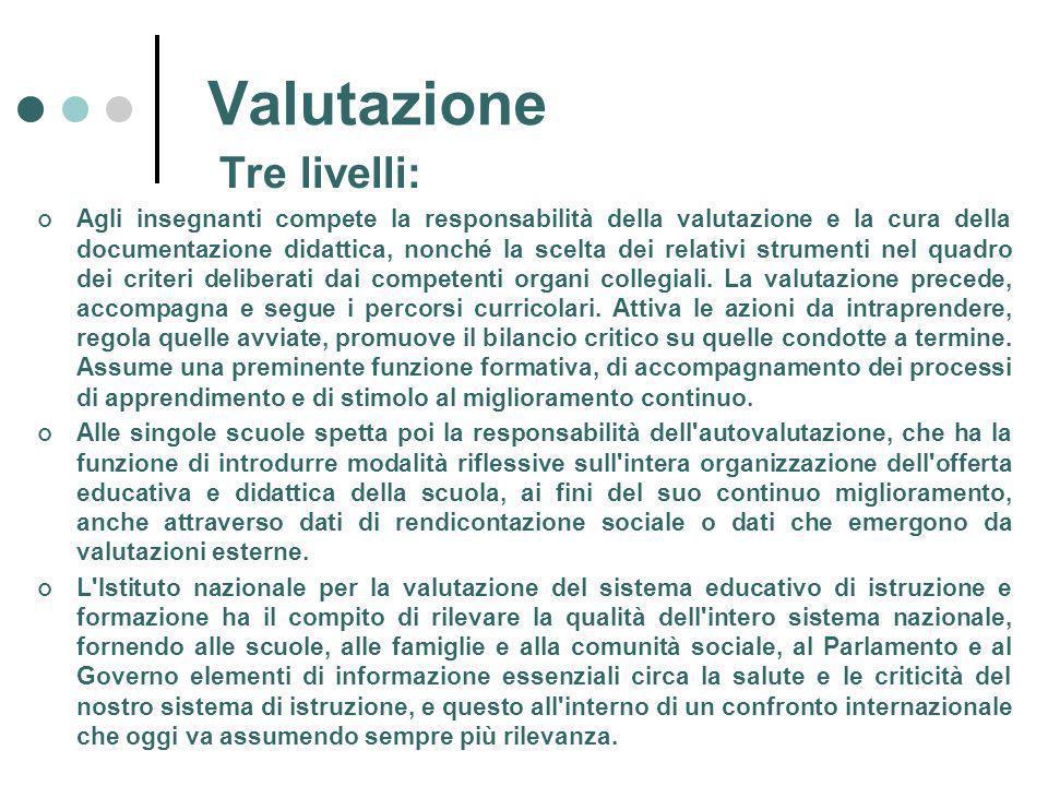 Valutazione Tre livelli: