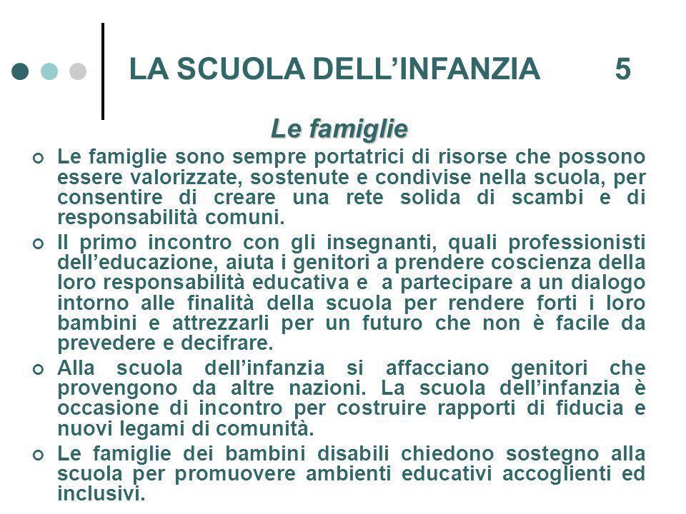 LA SCUOLA DELL'INFANZIA 5