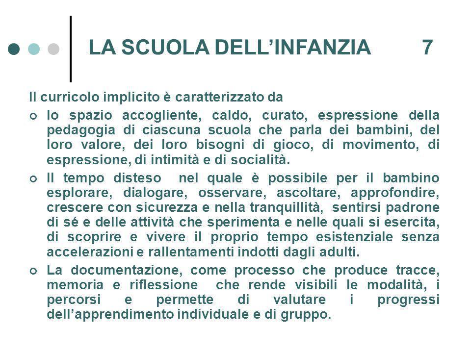 LA SCUOLA DELL'INFANZIA 7