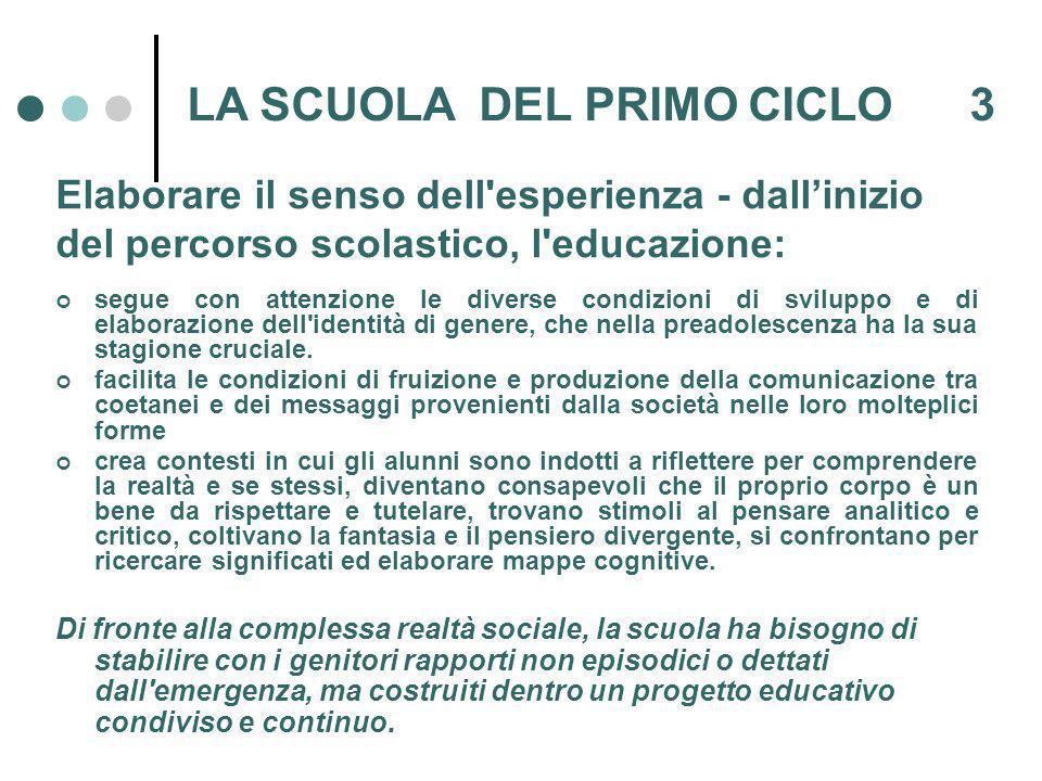 LA SCUOLA DEL PRIMO CICLO 3