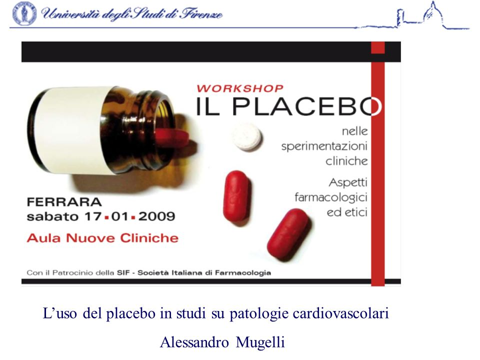 L'uso del placebo in studi su patologie cardiovascolari