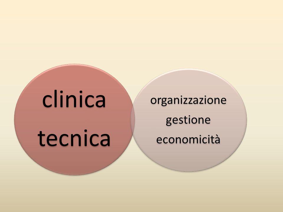 tecnica clinica organizzazione economicità gestione