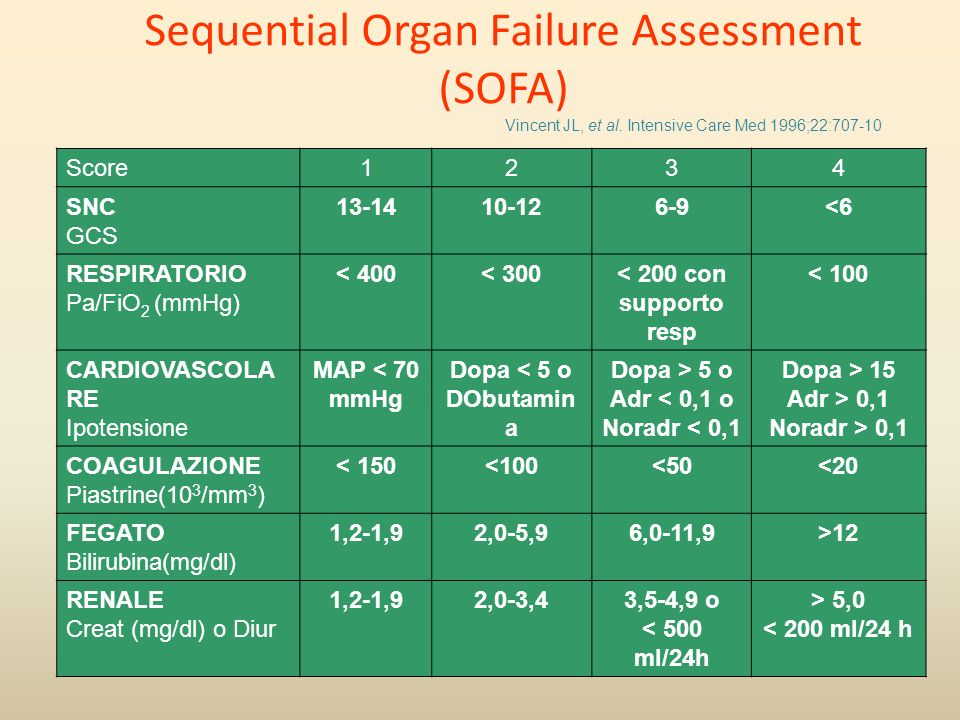 Sequential Organ Failure Assessment (SOFA)