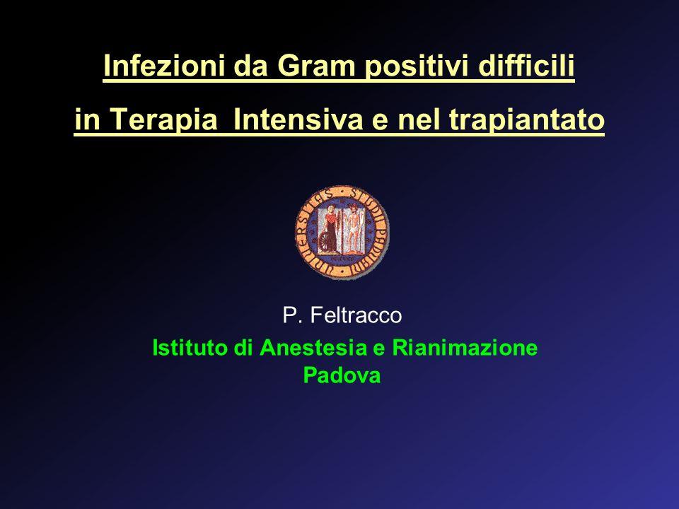 P. Feltracco Istituto di Anestesia e Rianimazione Padova