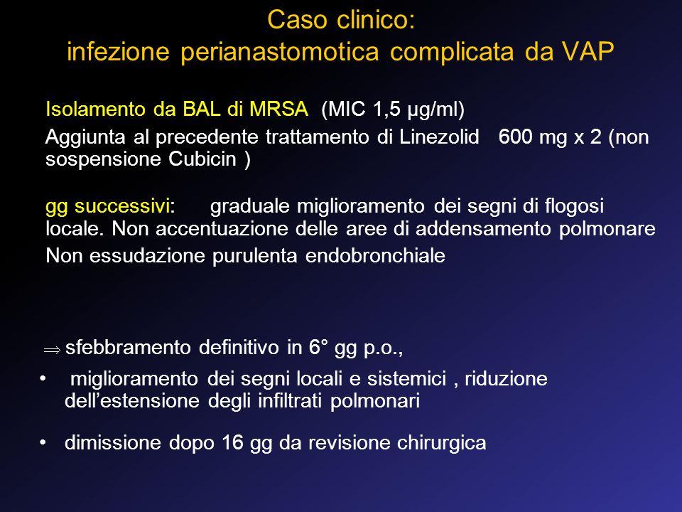 Caso clinico: infezione perianastomotica complicata da VAP