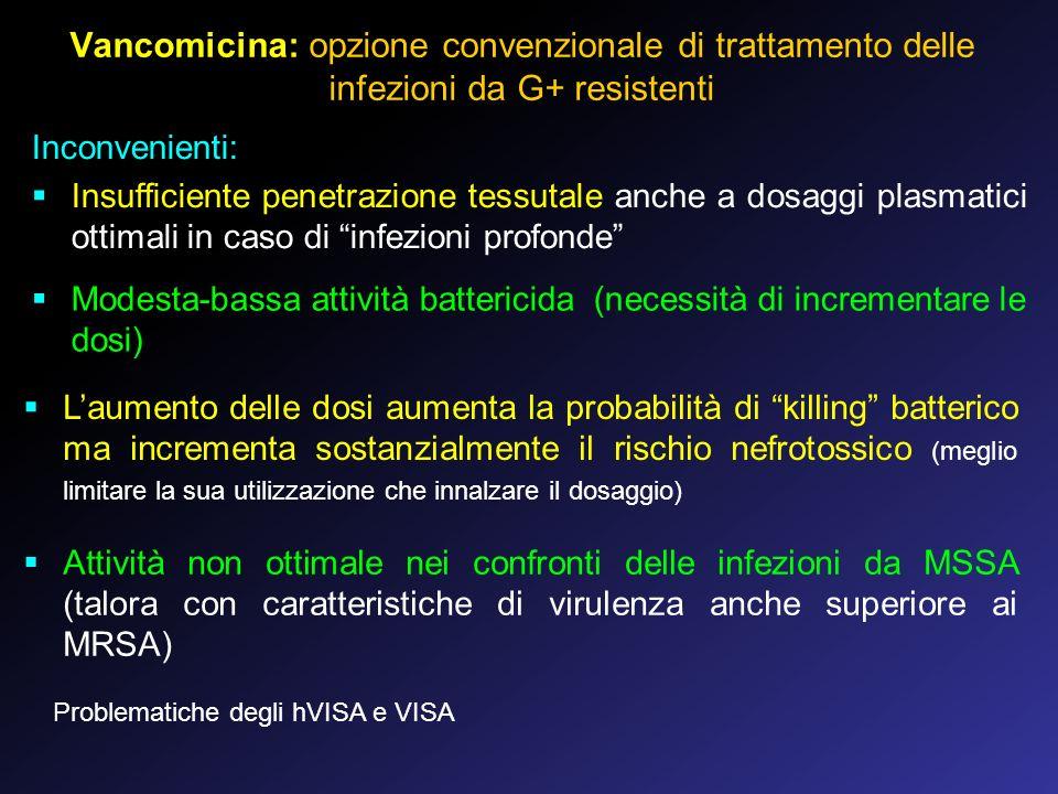 Vancomicina: opzione convenzionale di trattamento delle infezioni da G+ resistenti
