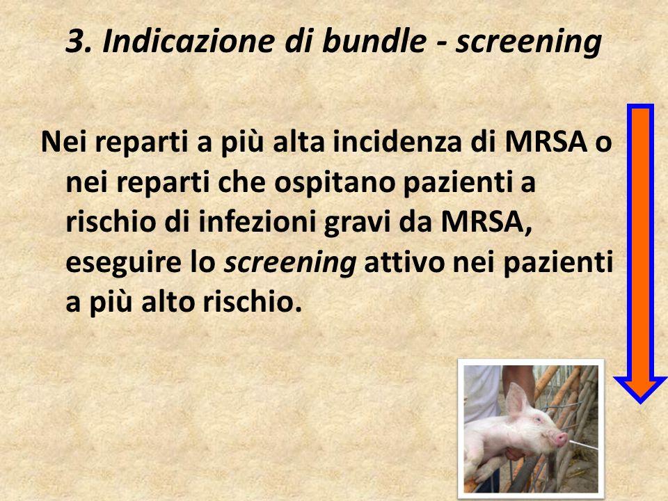 3. Indicazione di bundle - screening