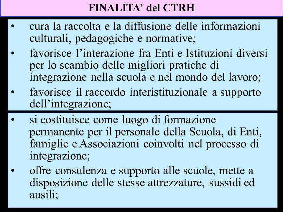favorisce il raccordo interistituzionale a supporto dell'integrazione;