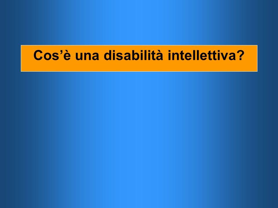 Cos'è una disabilità intellettiva