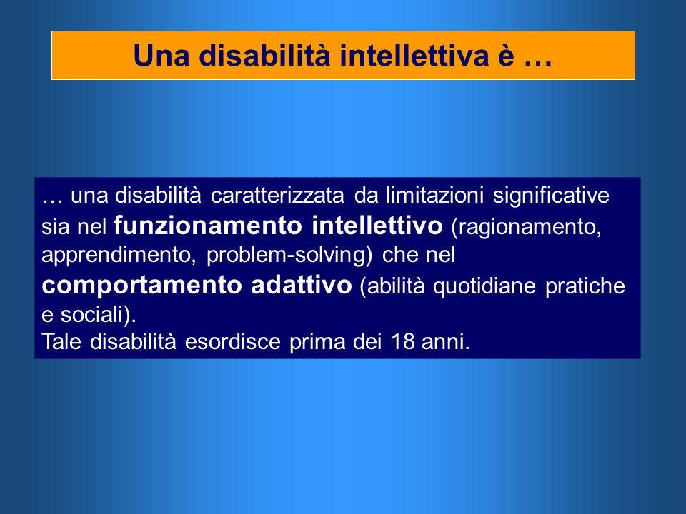 Una disabilità intellettiva è …