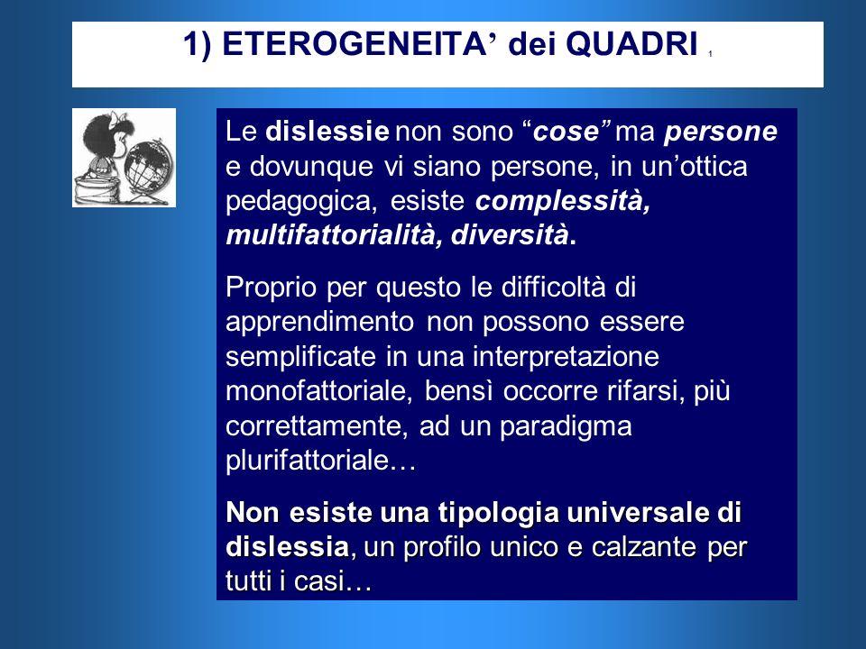 1) ETEROGENEITA' dei QUADRI 1