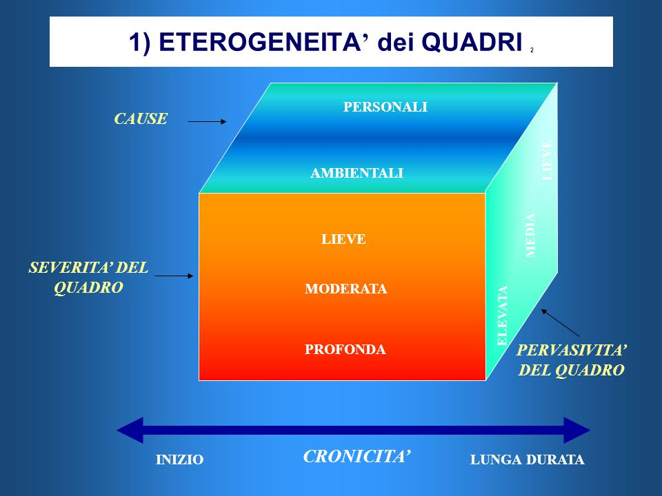 1) ETEROGENEITA' dei QUADRI 2