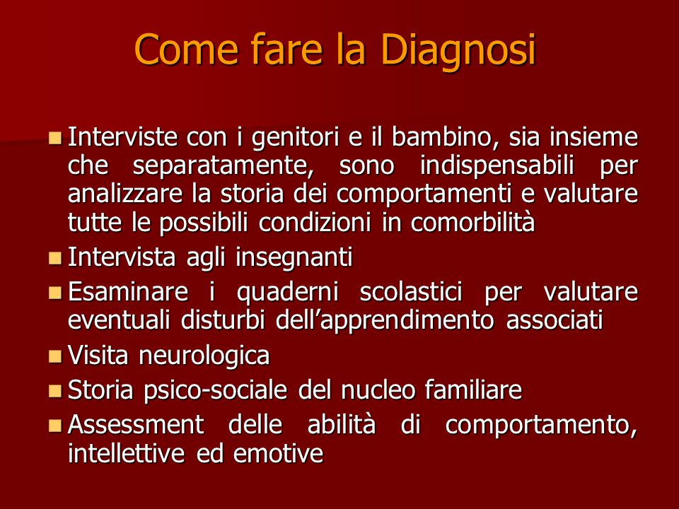 Come fare la Diagnosi