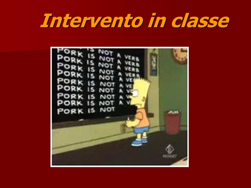 Intervento in classe