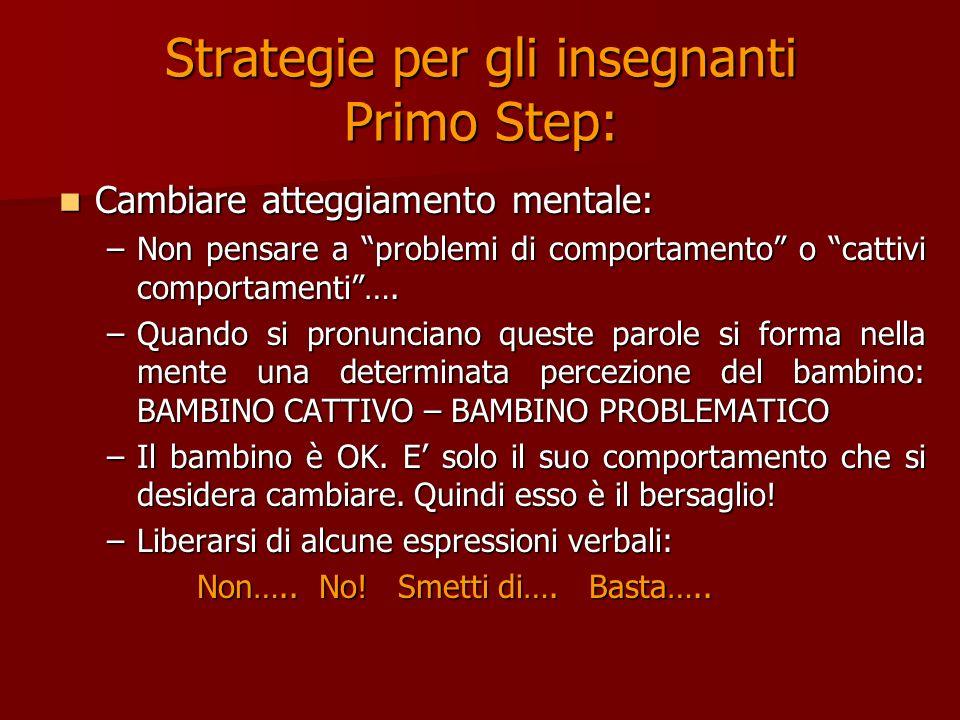 Strategie per gli insegnanti Primo Step: