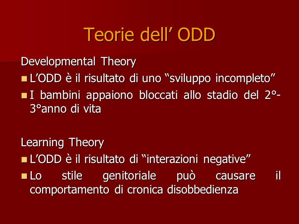 Teorie dell' ODD Developmental Theory