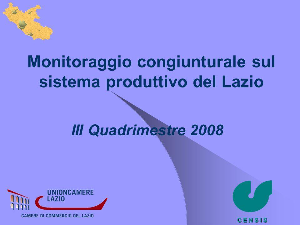 Monitoraggio congiunturale sul sistema produttivo del Lazio