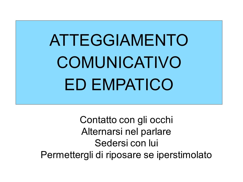 ATTEGGIAMENTO COMUNICATIVO ED EMPATICO