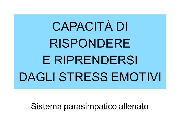CAPACITÀ DI RISPONDERE E RIPRENDERSI DAGLI STRESS EMOTIVI